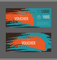 abstract gift voucher vector image vector image
