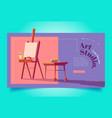 art studio website workshop for painters vector image vector image