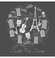 Background Tour Eiffel on chalkrboard vector image vector image