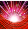 Background with red curtain vector image vector image