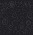 black clockwork seamless pattern vector image vector image