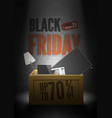 black friday advert mystic poster template vector image