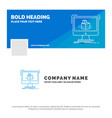 blue business logo template for 3d cube vector image vector image