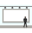 Businessman looking at billboard vector image