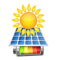 charging the battery from the sun vector image vector image