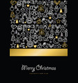 christmas and new year gold icon set card vector image vector image