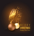 christmas golden decoration vector image vector image