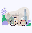 city bike hire rental tours for tourists and vector image