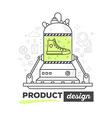 creative professional mechanism for produ vector image
