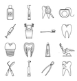 Dental care icons set outline style vector image vector image