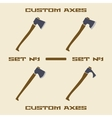 Different axe types icon set Design template vector image