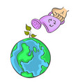 doodle bad environment world vector image vector image
