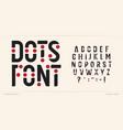 dots font art alphabet letters creative logo vector image