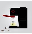 espresso machine eps10 vector image vector image