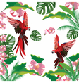 Exotic tropical pattern vector image vector image