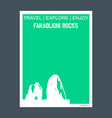 faraglioni rocks italy monument landmark vector image