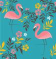 Flamingo pattern vector image vector image