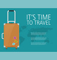 flat travel design concept background eps10 vector image