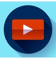 flat video play player icon botton vector image vector image