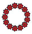 flower garland icon image vector image vector image