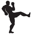 front kick outline vector image vector image