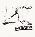 future innovation initiative a astronaut a vector image