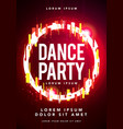 futuristicdance party poster template vector image
