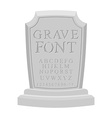 Gave font Ancient carved on tombstone of ABC Tomb vector image vector image