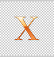 golden roman numeral number 10 x ten in alphabet