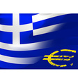Greece flag with EU symbol vector image