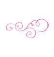 hand drawn calligraphic spring flourish vector image vector image