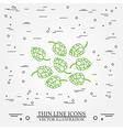 Hops thin line design Hops pen Icon Hops pen Icon vector image vector image