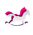 horse toy sign detachable paper with vector image