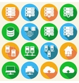 Hosting Technology Icons Set vector image vector image