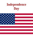 independence day in the united states of america vector image vector image