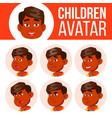 indian boy avatar set kid kindergarten vector image vector image
