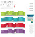 infographic modern design template 4 vector image vector image