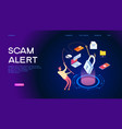 internet scam alert vector image
