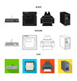 isolated object of laptop and device icon vector image vector image