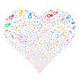 mars symbol fireworks heart vector image vector image