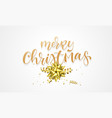 merry christmas greeting card background design vector image vector image