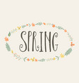 minimalist design of word spring vector image vector image