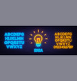 neon sign idea template for design with neon vector image vector image