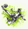 one caucasian soccer player man playing football vector image