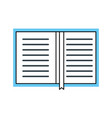 overhead view of a book personal organiser planner vector image vector image