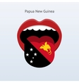 Papua New Guinea language Abstract human tongue vector image vector image