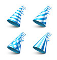party shiny hat with ribbon holiday decoration vector image vector image