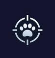 pet search icon logo vector image vector image