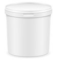 plastic container for ice cream or dessert 02 vector image
