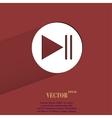 Play button web icon flat design vector image